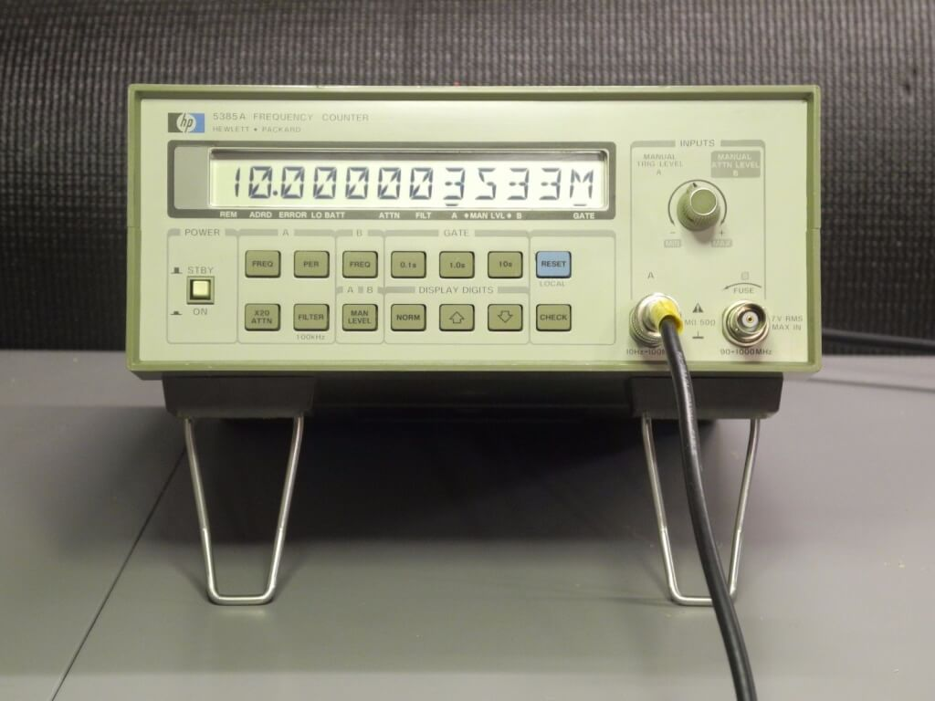 Hp Frequency Counter : Otb hp a frequency counter ku w ham radio